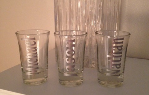 Guys Personalized Shot Glasses