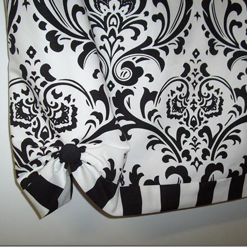 custom banded damask valance custom banded damask and canopy stripe valance