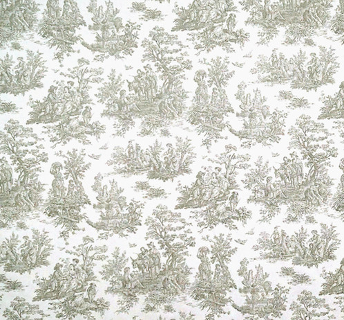 Gray Toile Custom Shower Curtain