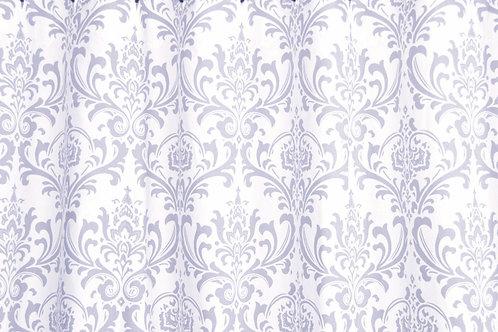 Storm Gray Damask Custom Shower Curtain