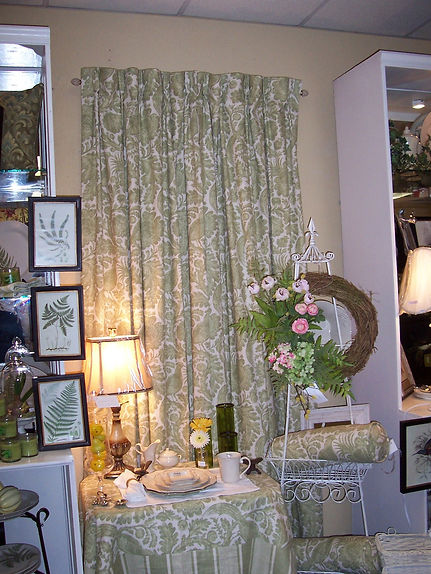 The Ivy Trellis custom pinch pleated drapes