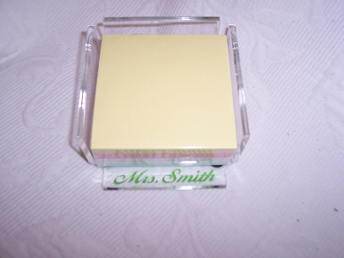 Personalized Acrylic Memo Pad