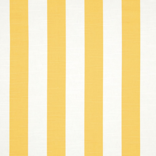 Custom Drapes Cornflower Yellow and White Canopy Stripe