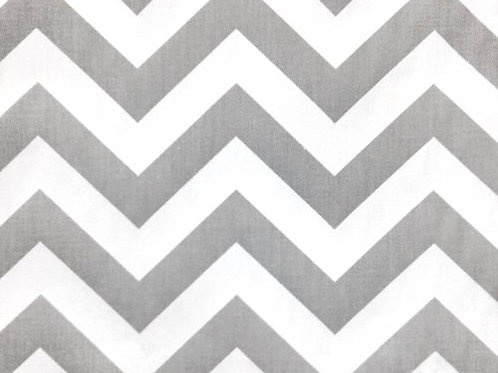 Grey White Chevron Custom Shower Curtain