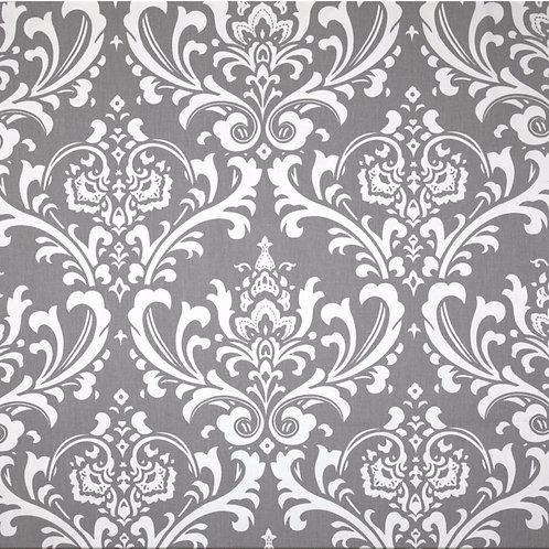 Gray Osborne Damask Custom Shower Curtain