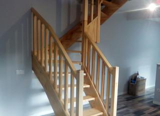 Escalera de madera a medida - Carpintería Bonilla