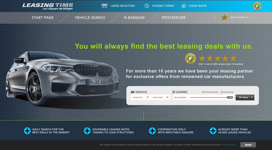 LeasingTime web design