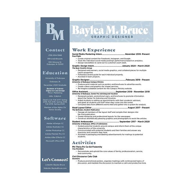 Baylea Bruce - Resume