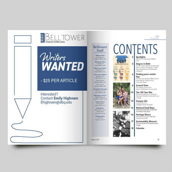 Belltower Student Publication: Table of Contents