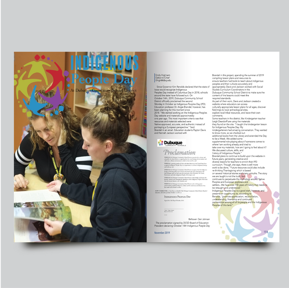 Belltower Student Publication: Indigenous People Day Spread