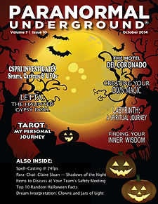 October 2014 Paranormal Underground Cove