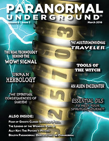 Paranormal Underground March 2016 Cover.