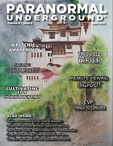 April 2015 Paranormal Underground Cover.