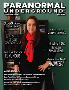 Paranormal Underground April 2021 Cover.