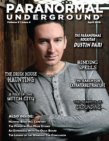 Paranormal Underground April 2016 Cover.