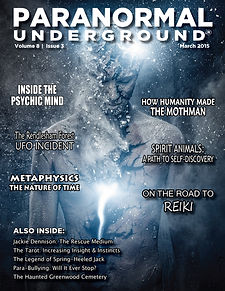 March 2015 Paranormal Underground Cover.