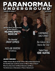 Paranormal Underground April 2020 Cover.