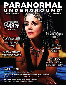 Paranormal Underground March 2020 Cover.