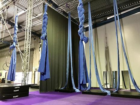Aerial Artistry Helensvale silks and training area