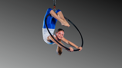 Young girl in lyra at Aerial Artistry