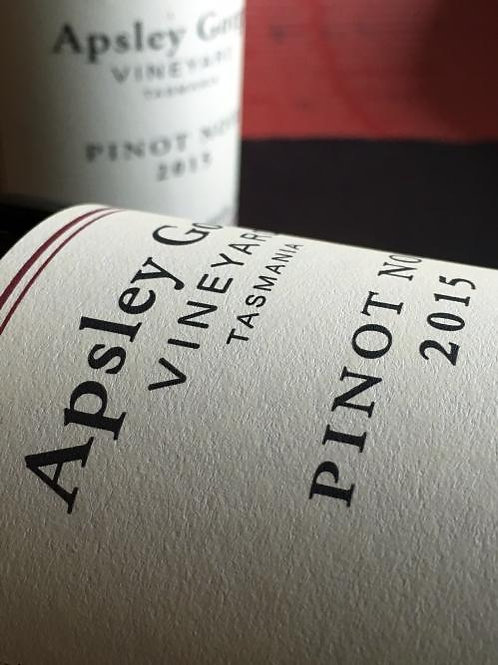 2017 Apsley Gorge Pinot Noir