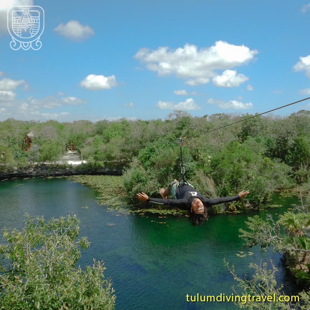 Cenotes in Tulum zipline