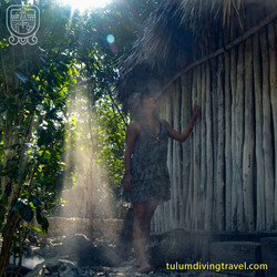 Tulum mayan village