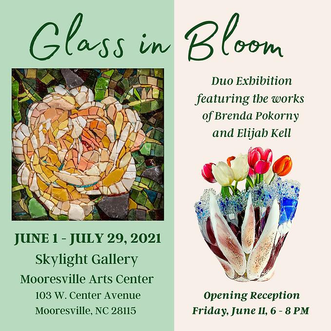 Elijah Kell Art Glass- Glass in Bloom exhibition