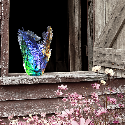 Elijah Kell Art Glass-Collins Barn Artisan Market