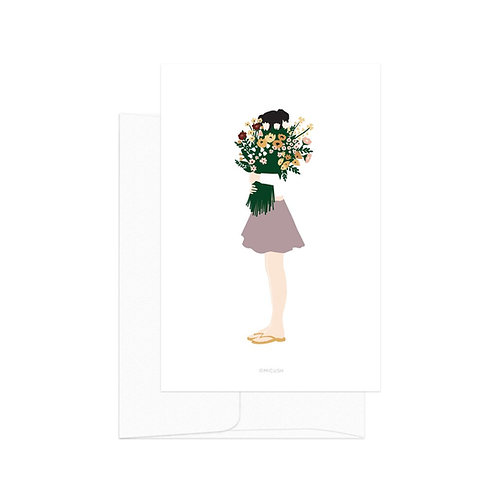 Card - Floral Lady