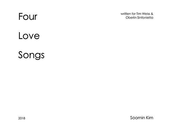 Soomin Kim Four Love Songs