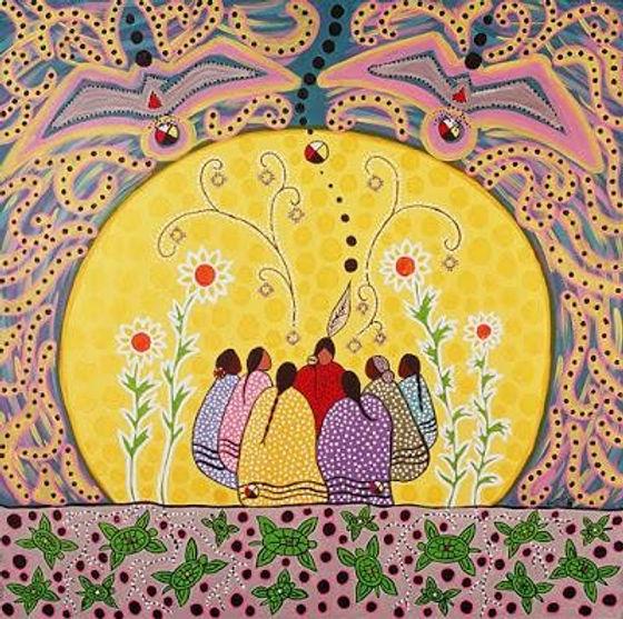Coloured women in circle.JPG
