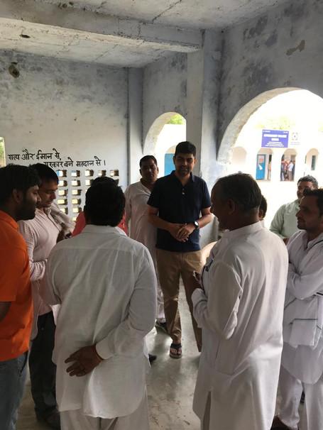 varun raghubir tewatia investigating loksabha election voting booth 2019 in prithla