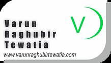 varun raghubir tewatia logo with box and