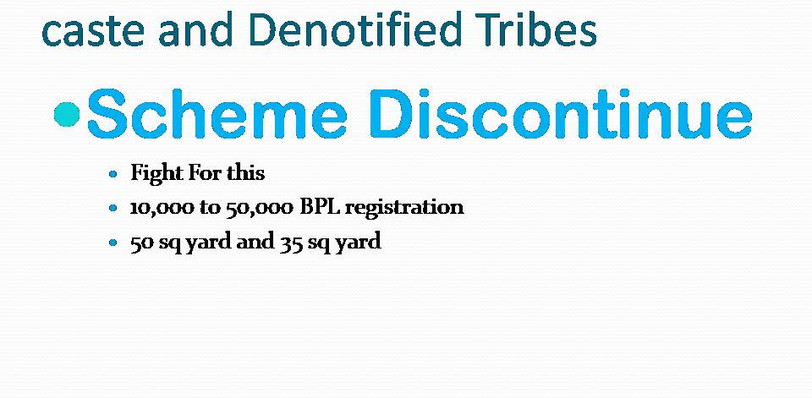 Explanation of Housing Schemes for Scheduled Castes & Scheduled Tribes