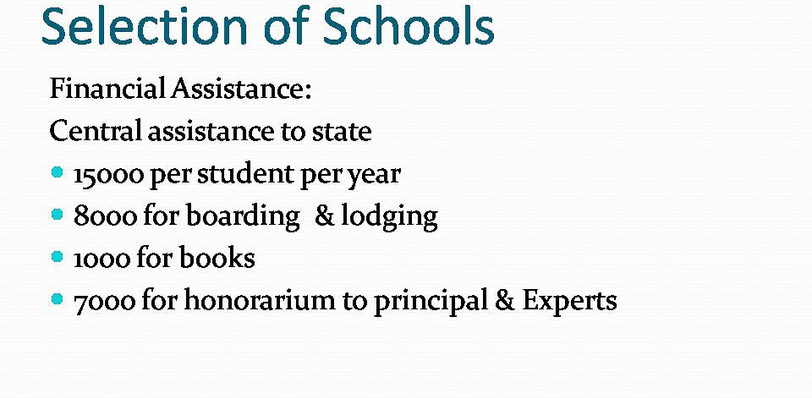 Explanation of how Government has given you priority for schools
