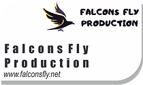 falcons fly production house logo with b