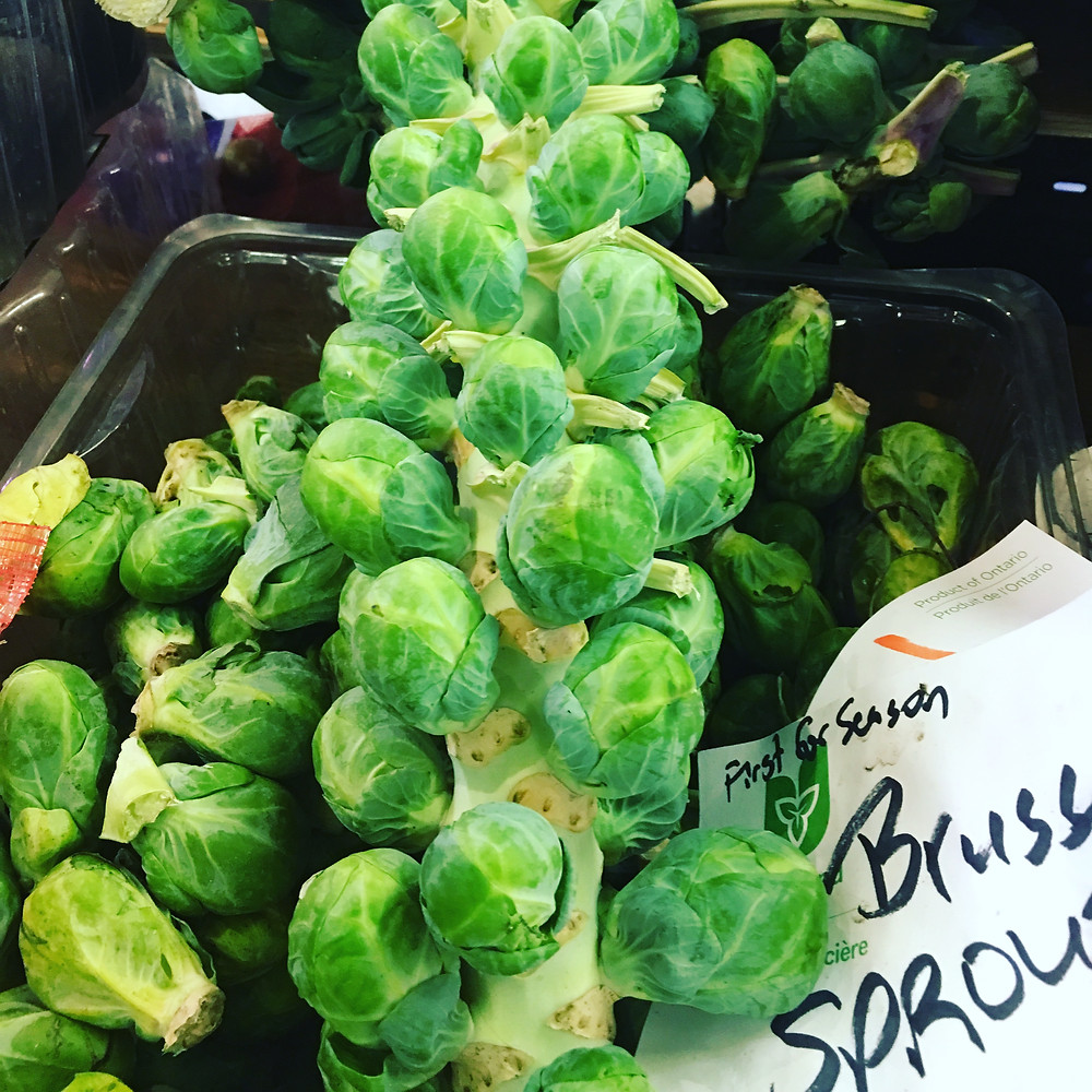 Did you know brussels sprouts grow on stalks???