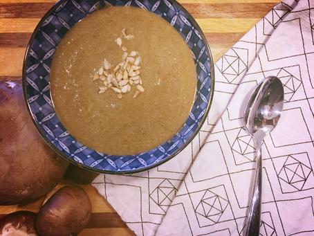 Vegan Stuffed Mushroom Soup
