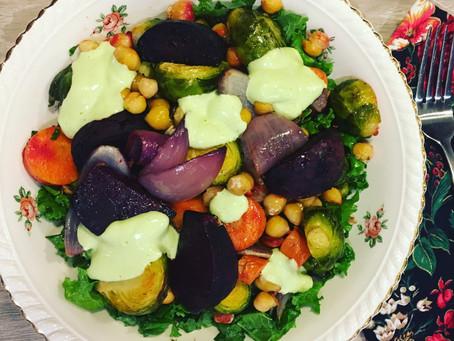 Warm Winter Vegan Salad