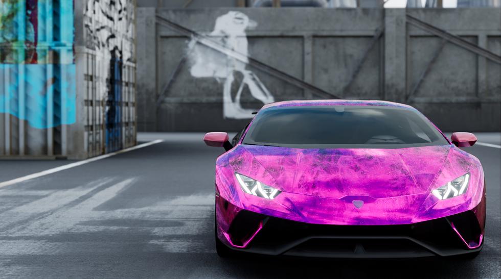 Lamborghini Huracan - Bat Lady Chrome Effect 3
