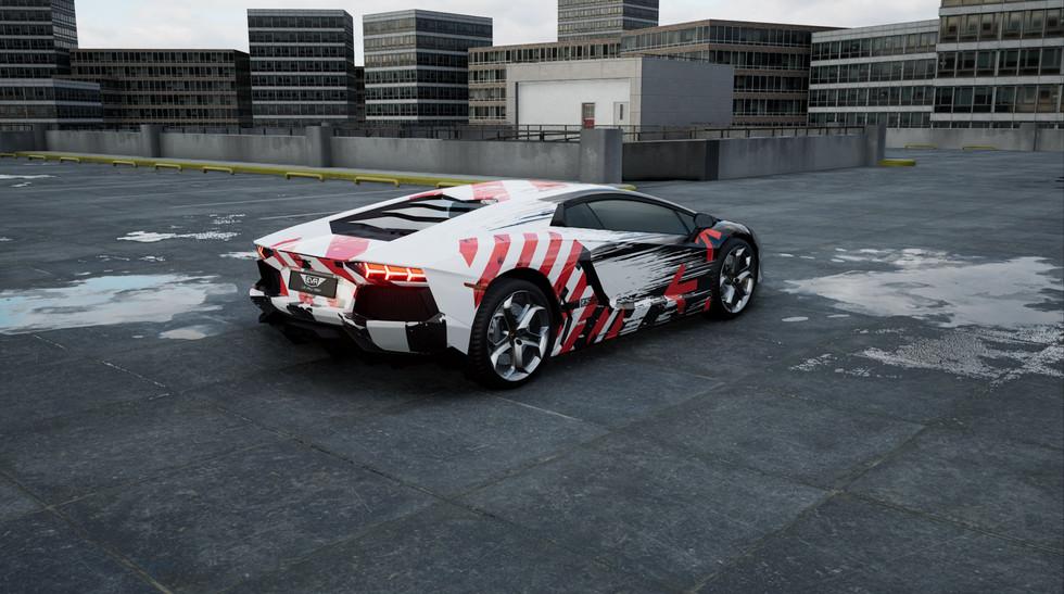 3DC - Lamborghini Aventador - Caution