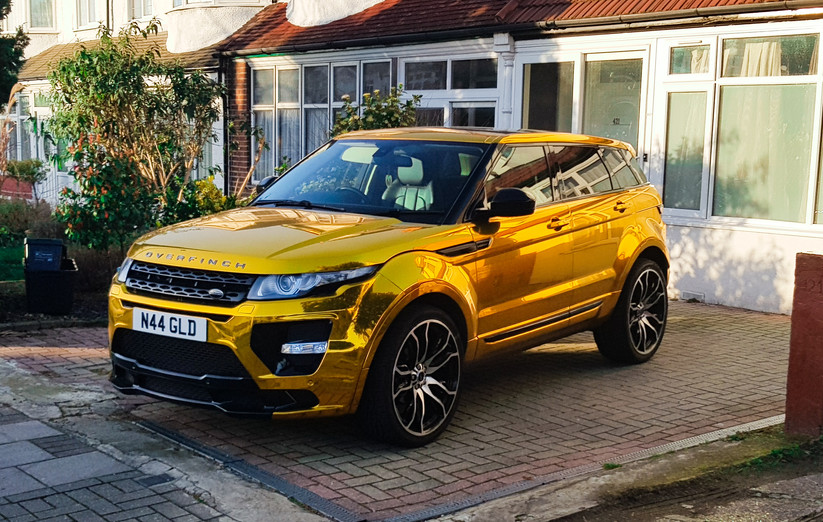 Chrome Gold Range Rover Evoque