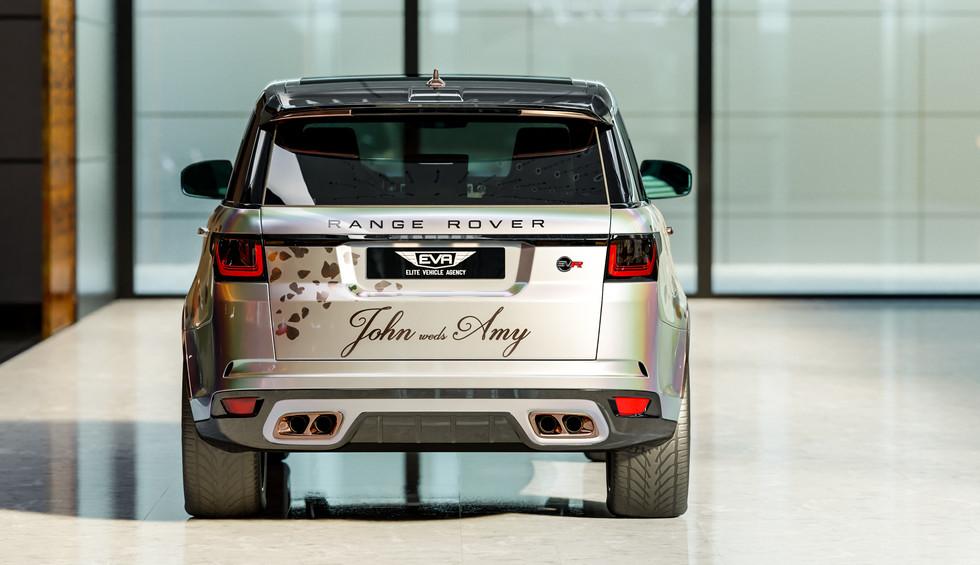 Personalised SVR Wedding Wrap - Rear Profile