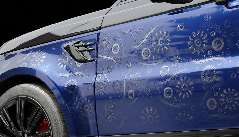 Blue Bandana Print Side Panel Patternwork