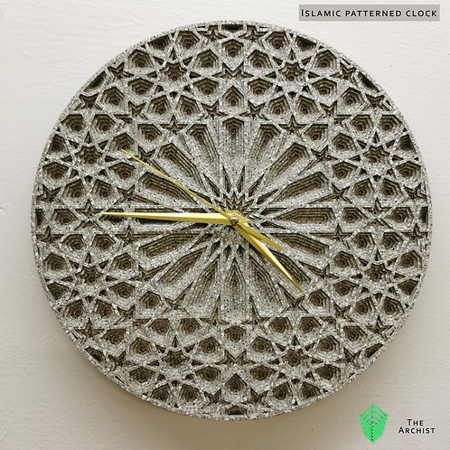 Islamic Geometric Clock: Pattern 1