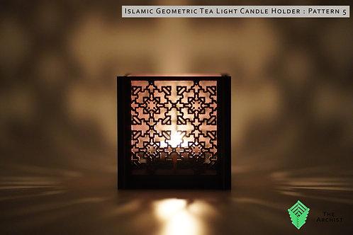 Islamic Geometric Tea Light Candle Holder : Pattern 5