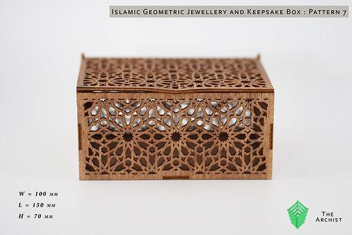 Islamic Geometric Jewellery and Keepsake Box : Pattern 7