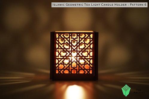 Islamic Geometric Tea Light Candle Holder : Pattern 6