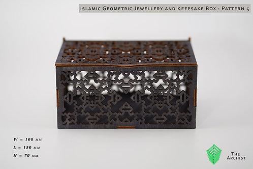 Islamic Geometric Jewellery and Keepsake Box : Pattern 5
